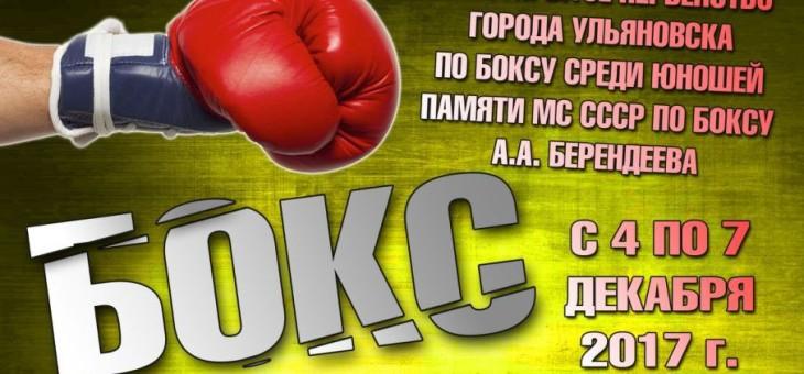 4-е Открытое первенство г.Ульяновска по боксу среди юношей, памяти МС СССР по боксу  А.А. Берендеева