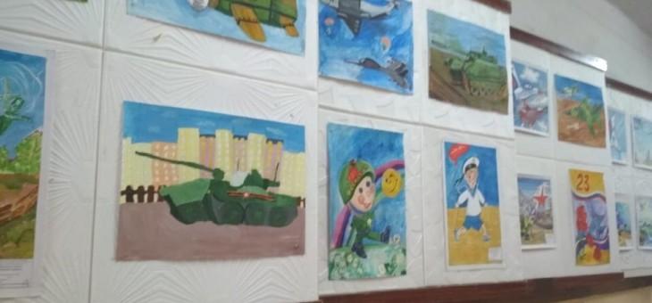 Выставка рисунков «С 23 февраля!»